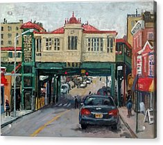 Overcast 231 Street Bronx Nyc Acrylic Print