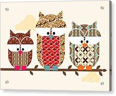 Owl Vectorillustration Acrylic Print