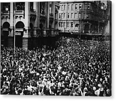 Oz Beatles Crowd Acrylic Print by Central Press