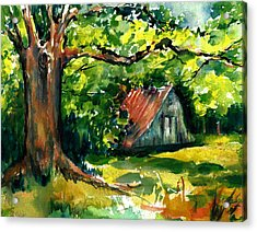 Ozarks Barn In Boxley Valley - Late Summer Acrylic Print