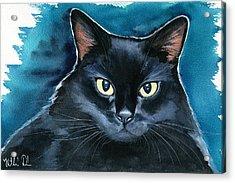 Ozzy Black Cat Painting Acrylic Print