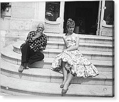 Pablo Picasso With Brigitte Bardot Acrylic Print