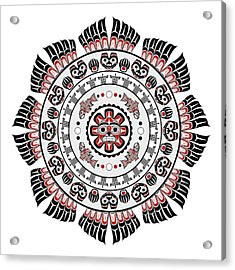 Pacific Northwest Native American Art Mandala Acrylic Print