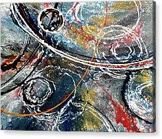 Paint Puddles Acrylic Print