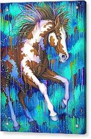 Paint Running Wild Acrylic Print