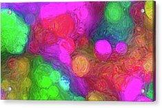 Painted Bokeh Impasto Pinkish Purple Acrylic Print