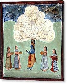 Painting Fresco Of Krishna In The Women's Zenana Acrylic Print