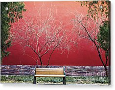 Palace Walls,the Forbidden City In Acrylic Print