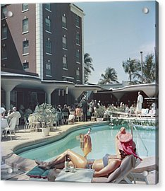 Palm Beach Acrylic Print by Slim Aarons