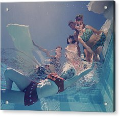 Palm Springs Fashion, No. 8 Acrylic Print by Lawrence Schiller