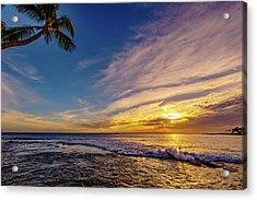 Palm Wave Sunset Acrylic Print