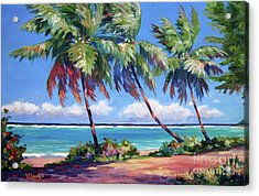Palms At The Island's End Acrylic Print