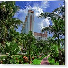 Palms At The Riu Cancun Acrylic Print