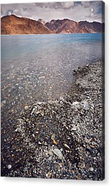 Acrylic Print featuring the photograph Pangong Tso by Whitney Goodey