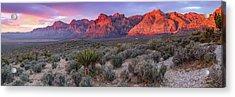 Panorama Of Rainbow Wilderness Red Rock Canyon - Las Vegas Nevada Acrylic Print