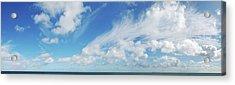 Panorama Shot Of Horizon Over Water Xxl Acrylic Print