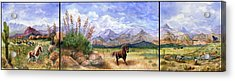 Panorama Triptych Don't Fence Me In  Acrylic Print