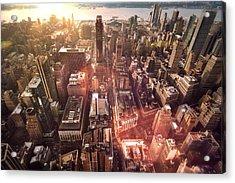 Panoramic View Of A Modern City Acrylic Print by Ana Aguiar / Eyeem