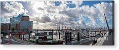 Panoramic View Of Hamburg Acrylic Print