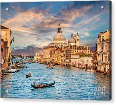 Panoramic View Of Traditional Gondola Acrylic Print