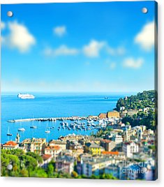 Panoramic View  With Tilt-shift Effect Acrylic Print