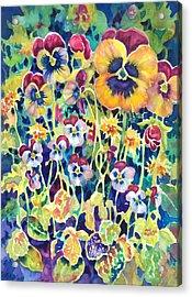 Pansies And Violas Acrylic Print