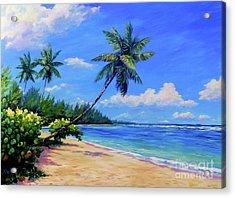 Paradise Palms Acrylic Print by John Clark