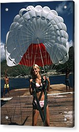 Paraglider Acrylic Print by Slim Aarons