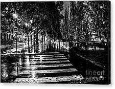 Paris At Night - Quai Voltaire Acrylic Print