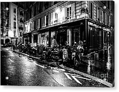 Paris At Night - Rue Jacob Acrylic Print