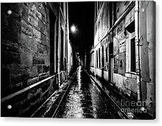 Paris At Night - Rue Visconti Acrylic Print