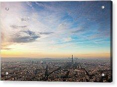 Paris Atmosphere Acrylic Print by John And Tina Reid
