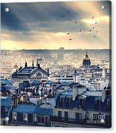 Paris Cityscape Taken From Montmartre Acrylic Print