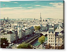 Paris Panorama, France. View On Eiffel Acrylic Print