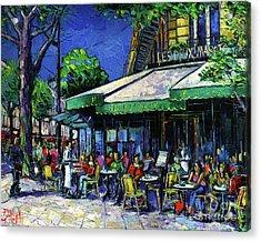 Parisian Cafe Acrylic Print