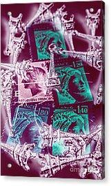 Parisian Postmarks Acrylic Print
