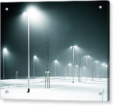 Parking Lot Acrylic Print by Photography By Andreas Strauch