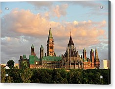 Parliament Building In Ottawa, Onratio Acrylic Print