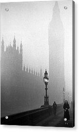 Parliament Fog Acrylic Print by Kurt Hutton