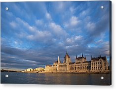 Acrylic Print featuring the photograph Parliament On The Danube by Davor Zerjav