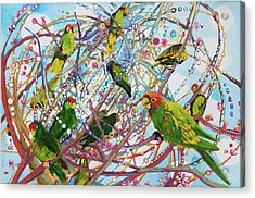 Parrot Bramble Acrylic Print