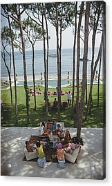 Party In Marbella Acrylic Print by Slim Aarons