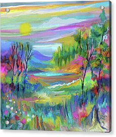 Pastel Landscape Acrylic Print