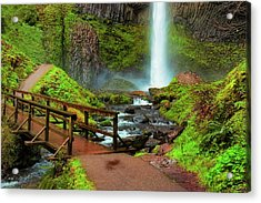 Path At Base Of Lautrolla Falls Acrylic Print