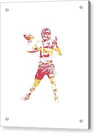 Patrick Mahomes Kansas City Chiefs Apparel T Shirt Pixel Art 1 Acrylic Print