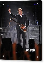 Paul Mccartney Brings The House Down At Acrylic Print by New York Daily News Archive