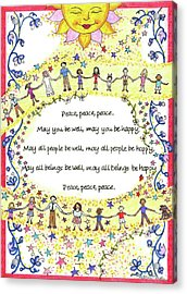 Peace, Peace, Peace Acrylic Print