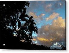 Peach Sunset  Acrylic Print