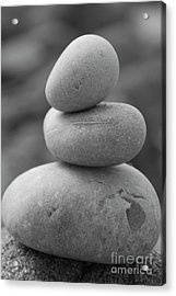 Pebbles In Black And White Acrylic Print