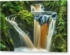 Pecca Twin Falls, Ingleton Acrylic Print by David Ross